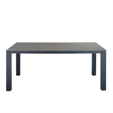 Table de jardin en aluminium gris Escale