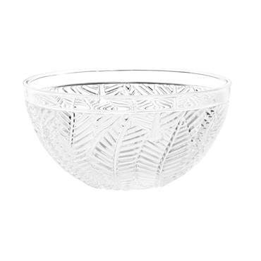 Coupelle à glace en verre taillé motif feuillage