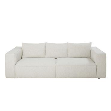 Canapé 3 places éco-conçu gris clair chiné Falkor