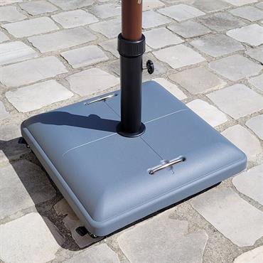 Pied de parasol carré avec roulettes