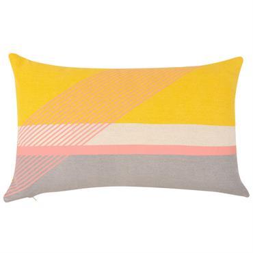 Housse de coussin en coton imprimé coloré 30x50