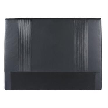 Tête de lit 140/160 noire Roxane