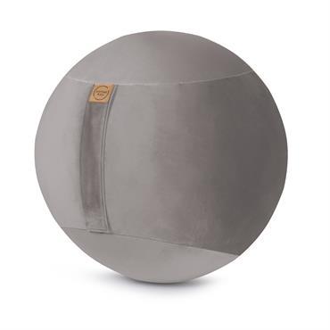 Balle d'assise avec poignée gris clair velours D65