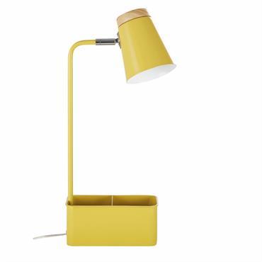 Envie de couleur pour égayer votre espace de travail ? Alors, optez pour la lampe de bureau avec porte-crayons compartiments en métal jaune et hévéa LEXIE ! Vous apprécierez son ...