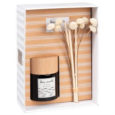 Diffuseur en verre parfum bois vanillé 30ML