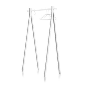 Portant Dress-up / L 90 cm - Nomess blanc en bois