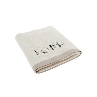 Drap de bain XL en coton blanc 150x100