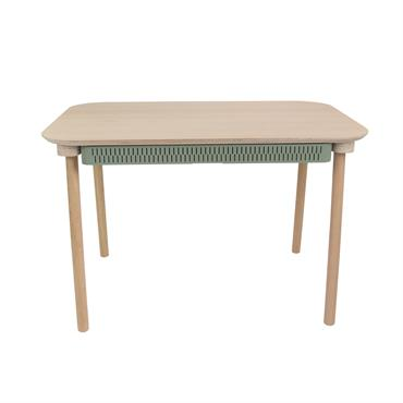 La TABLE DE REPAS & TIROIR by Céleste, c'est une petite table alliant subtilement le bois certifié et le métal made in France, la rondeur du plateau et la rigueur ...