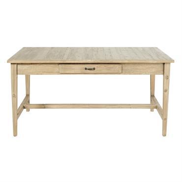 Table à manger 2 tiroirs 6/8 personnes L160 Valmont