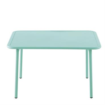 Table enfant en métal bleu L60 Fun Summer