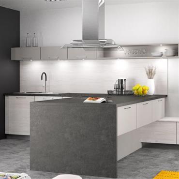 Réalisation d'une cuisine à l'ambiance design et épurée, la cuisine devient un véritable lieu de vie et de réception. Réalisation ... Domozoom