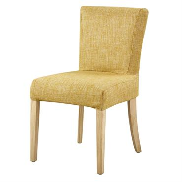 Housse de chaise ocre