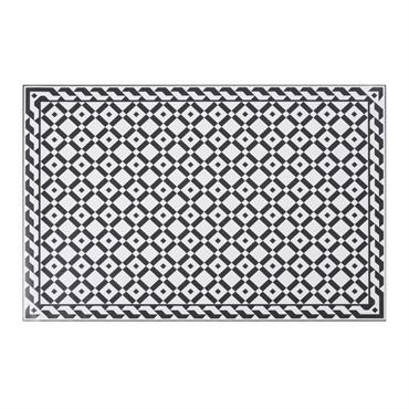 Tapis en vinyle motifs carreaux de ciment 100x150
