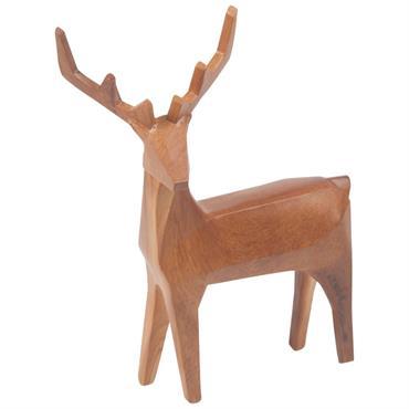 Statuette cerf marron H32