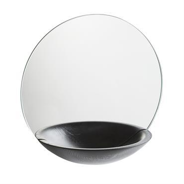Miroir vide-poche Chêne massif noir - Woud