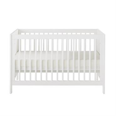 Lit bébé à barreaux blanc L125 Celeste