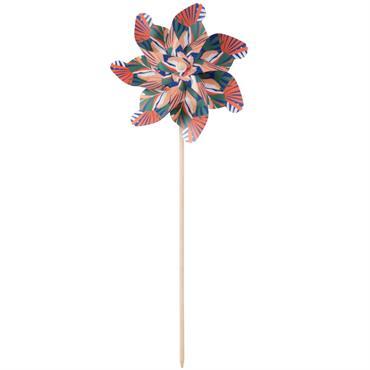 Moulin à vent en plastique à motifs