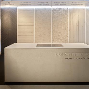 Réalisation du stand lors du salon Clerkenwell Design Week, édition 2016. Installation réalisée par Concrete LCDA avec Robert Timmons Furniture ... Domozoom