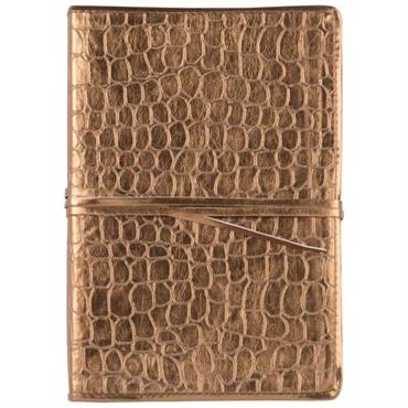 Carnet de notes coloris bronze effet croco