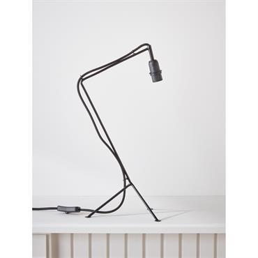 Pied de lampe en métal noir