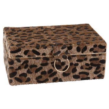 Boîte à bijoux imprimé léopard