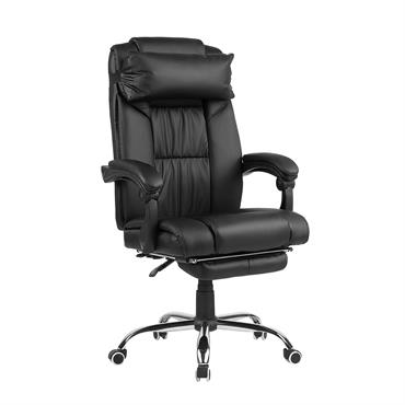 Cette chaise de bureau est un véritable endroit du plus haut niveau de confort dans votre bureau. Recouvert de simili-cuir noir doux et généreusement rembourré de mousse moelleuse, il est ...