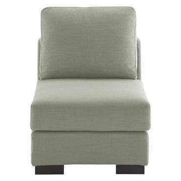 Chauffeuse de canapé modulable gris clair Terence
