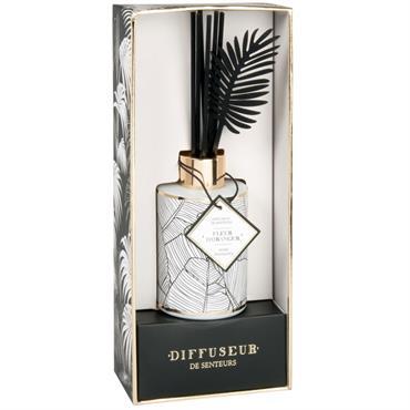 Diffuseur en verre teinté blanc parfum Jungle oasis 100ML