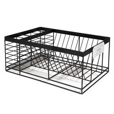 Égouttoir à vaisselle en métal noir COOKING STORE