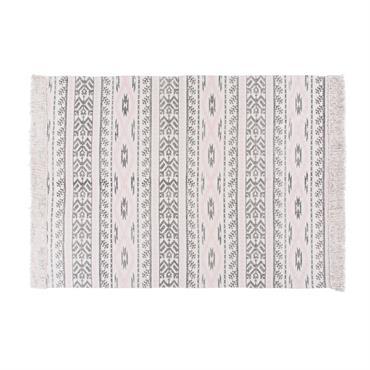 Oubliez le tapis classique ! La tendance ethnique chic s'empare de votre intérieur avec le tapis en coton motifs graphiques 160x230 ANDREAS . Son imprimé très tendance et ses franges ...