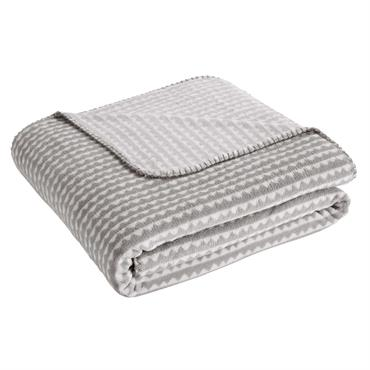 Plaid enfant gris 170x130 WAVE