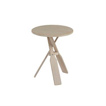 Table de chevet minimaliste en bois Beige