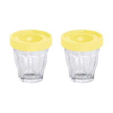 Coquetier Cot-Cot / Set de 2 - Verres Duralex - Designerbox jaune