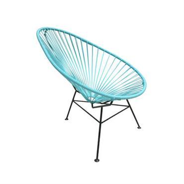 Fauteuil enfant OK Design pour Sentou Edition Design Turquoise Métal Larg 57 cm x Prof 70 cm x H 62 cm On craque pour la version mini du fauteuil Acapulco ...