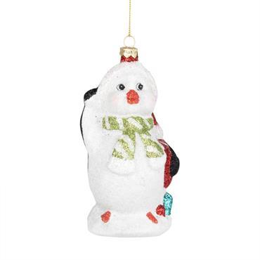 Suspension de Noël pingouin à paillettes