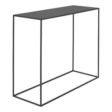 Console minimaliste en métal thermolaquél noir l100cm