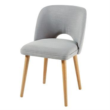Chaise gris clair Meryl
