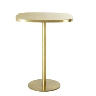 Table à manger haute en métal coloris laiton 1/2 personnes L40 Louxor