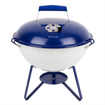 Barbecue portable à charbon Navy & White / Ø 37