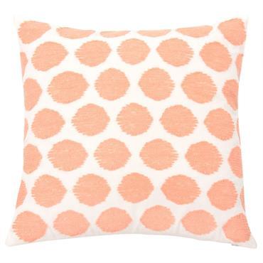 Housse de coussin motifs graphiques roses 40x40