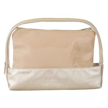 Trousse de toilette double beige