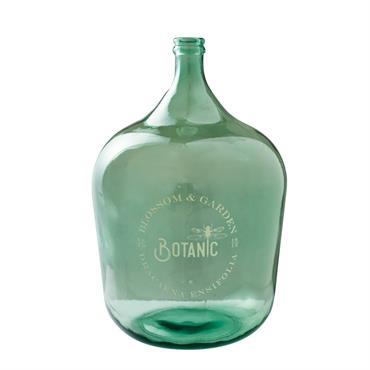 Vase Dame-Jeanne en verre teinté vert H56