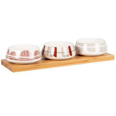 Coupelles apéritives en porcelaine blanche