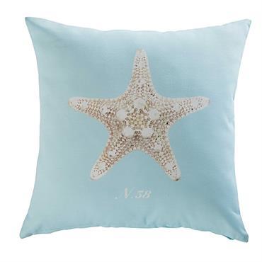 Coussin de jardin en tissu imprimé étoile de mer 45x45 SHELTER