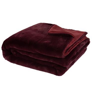 Jeté tricoté prune 150x180
