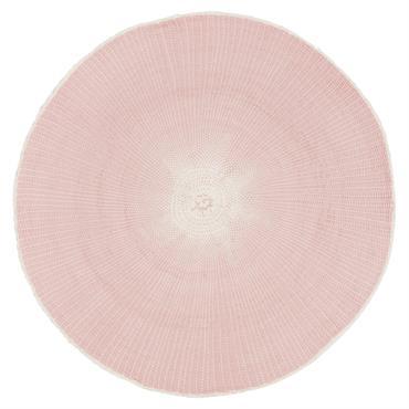 Set de table rond en papier rose