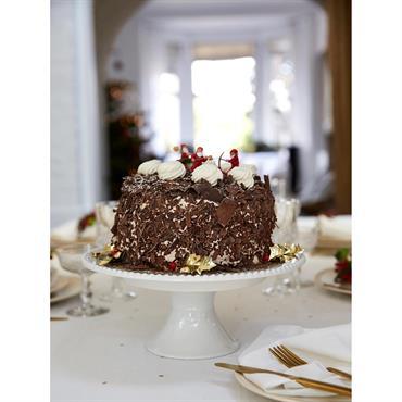 Présentoir à gâteau blanc