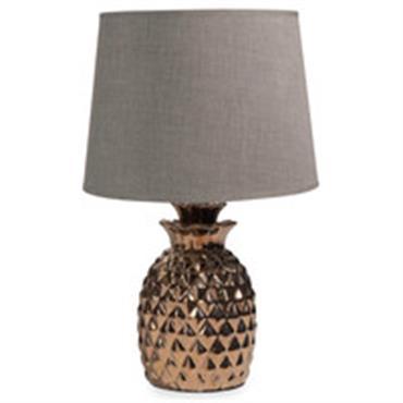 Lampe ananas en céramique dorée H 43 cm MILORD