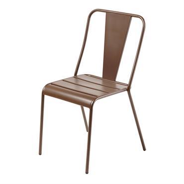 Chaise de jardin en métal marron Harry's