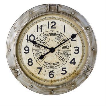 Horloge indus en métal effet vieilli D85